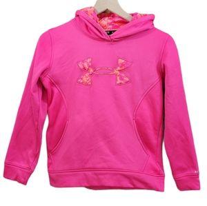 Under Armour Fuchsia Pink Loose Logo Fleece Hoodie